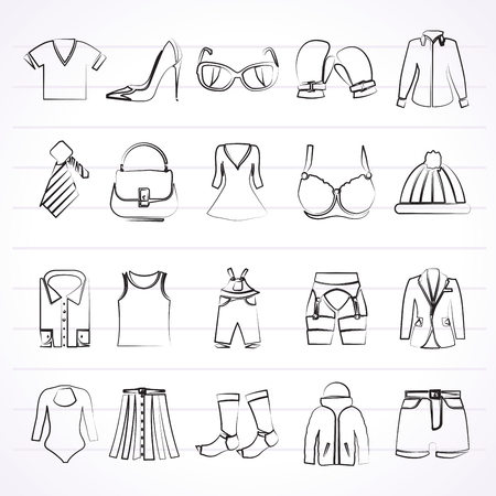 suspender: Fashion and clothing and accessories icons - vector icon set