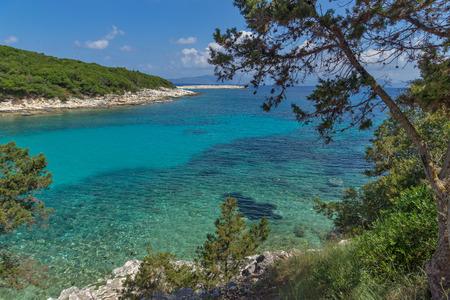 ionian: amazing seascape of Emblisi Fiskardo Beach, Kefalonia, Ionian islands, Greece Stock Photo
