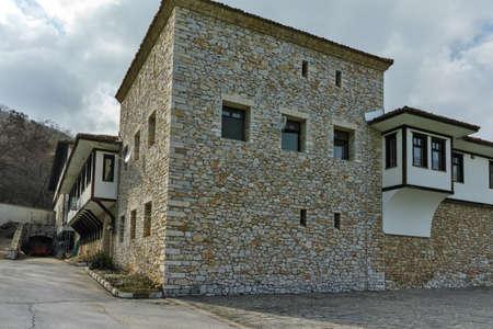 Outside view of Gornovodenski monastery St. Kirik and Julita, Asenovgrad,  Plovdiv Region,  Bulgaria Stock Photo