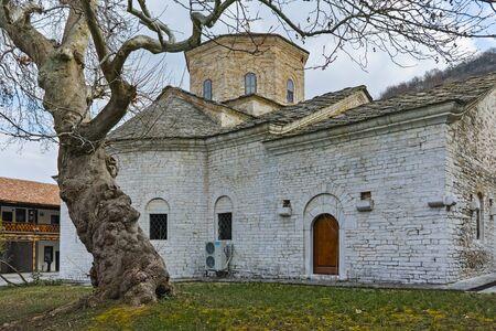 venerable: Church St. Petka and venerable tree in Gornovoden monastery St. Kirik and Julita, Asenovgrad,  Plovdiv Region,  Bulgaria Stock Photo