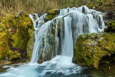 Bachkovo waterfalls cascade in Rhodopes Mountain, Plovdiv region, Bulgaria