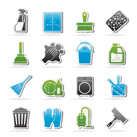 besom: Cleaning and Hygiene icons  - vector icon set