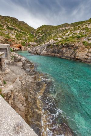 zakynthos: Limnionas beach bay at Zakynthos island, Greece