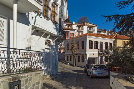 old town house: Typical street and old house in old town of Xanthi, East Macedonia and Thrace, Greece