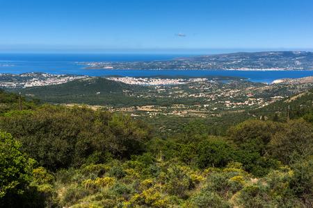 cefalonia: Amazing panoramic view of Argostoli town, Kefalonia, Ionian islands, Greece Stock Photo