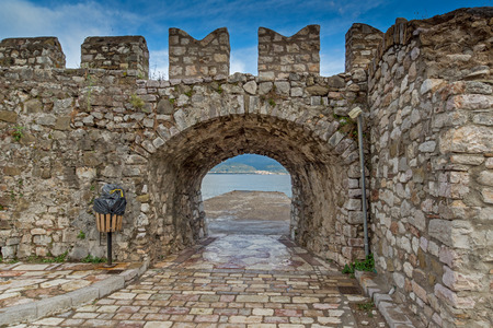fortification: Fortification at the port of Nafpaktos town, Western Greece