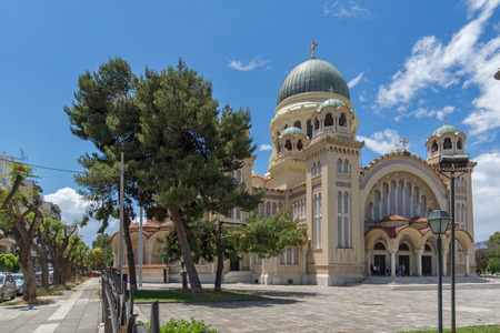 View of Saint Andrew Church, the largest church in Greece, Patras, Peloponnese, Western Greece Editorial