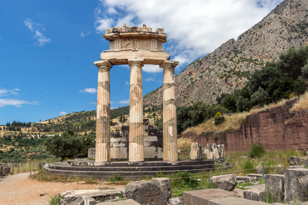 athena: Athena Pronaia Sanctuary at Delphi, Central Greece Stock Photo