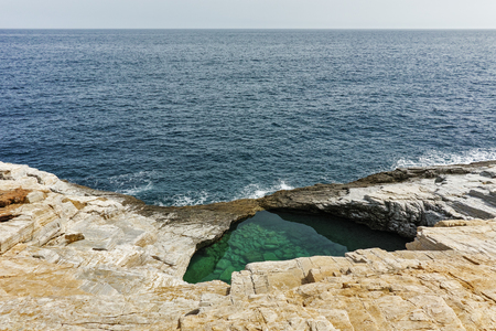 natural pool: Panoramic view to Giola Natural Pool in Thassos island, East Macedonia and Thrace, Greece