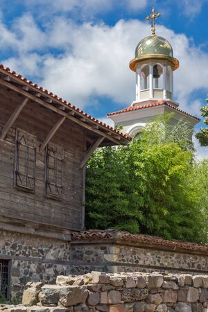 archeologist: Ruins of from Ancient Sozopol and the church of St. George, Bulgaria