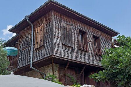 archeologist: wooden Old house in Sozopol Town, Burgas Region, Bulgaria