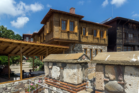 fortifications: Ancient fortifications and old houses in Sozopol, Burgas Region, Bulgaria
