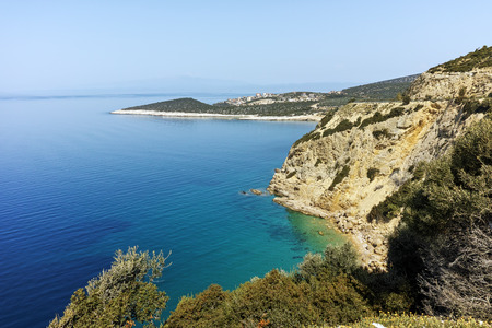 blue waters: Seascape with blue waters in Thassos island, East Macedonia and Thrace, Greece