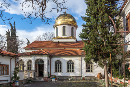 annunciation of mary: Amazing view Golden Dome of The Fish Church, St. Mary the Annunciation, Asenovgrad,  Plovdiv Region, Bulgaria