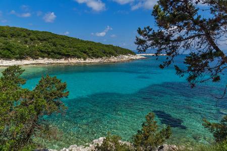 cefalonia: amazing view of Emblisi Fiskardo Beach, Kefalonia, Ionian islands, Greece Stock Photo