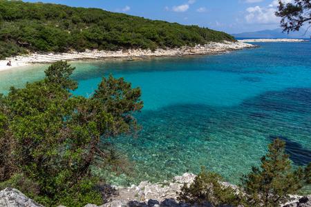 cefalonia: Seascape of Emblisi Fiskardo Beach, Kefalonia, Ionian islands, Greece Stock Photo