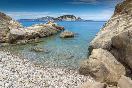 ionian: Clear waters of marathia beach at Zakynthos island, Greece