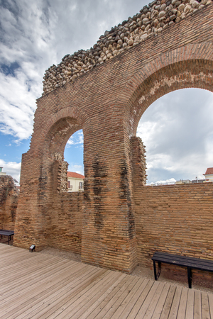 Ruins of Roman Odeon, Patras, Peloponnese, Western Greece Stock Photo