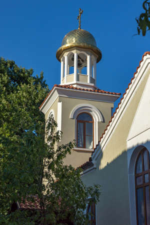 archeologist: Bell tower of the church of St. George, Sozopol, Burgas Region, Bulgaria Stock Photo