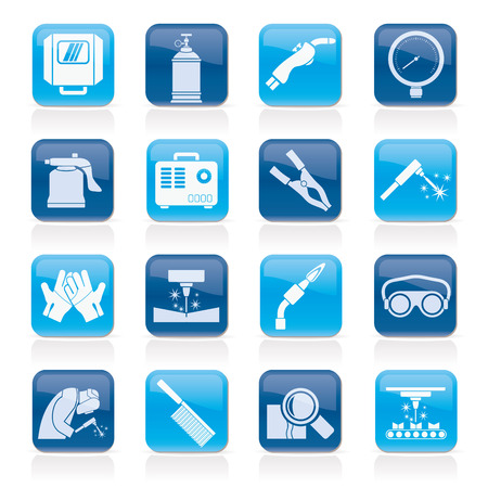 menu icon: Welding and construction tools icons - vector icon set