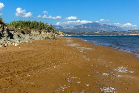 cefallonia: amazing view of Xi Beach,beach with red sand in Kefalonia, Ionian islands, Greece