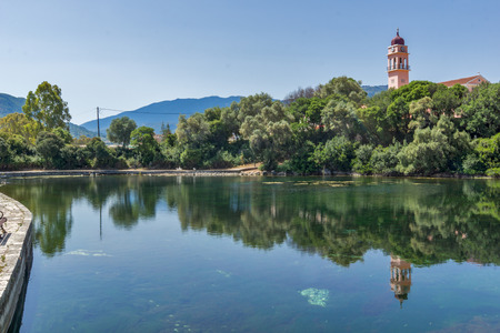 cefallonia: Amazing landscape of karavomilos lake, Kefalonia, Ionian islands, Greece Stock Photo