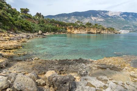 cefalonia: Panoramic view of Pesada beach, Kefalonia, Ionian islands, Greece