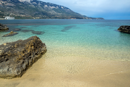 Amazing panorama of Pesada beach, Kefalonia, Ionian islands, Greece Stock Photo