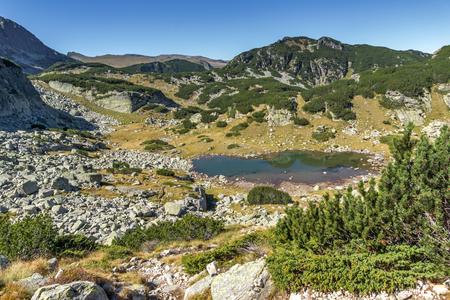 Panoramic view of small Lake, Rila Mountain, Bulgaria Stock Photo