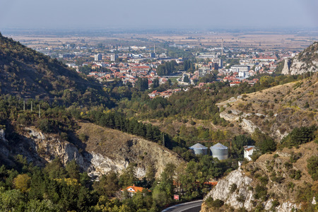 assen: Panorama of town of Asenovgrad from Asens Fortress,  Plovdiv Region, Bulgaria