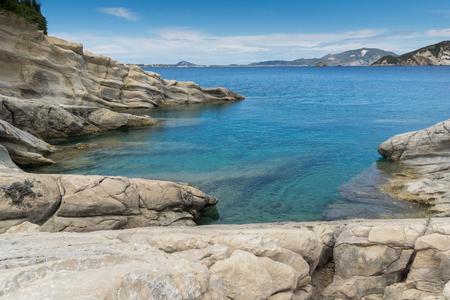 zakynthos: Panorama of marathia beach at Zakynthos island, Greece