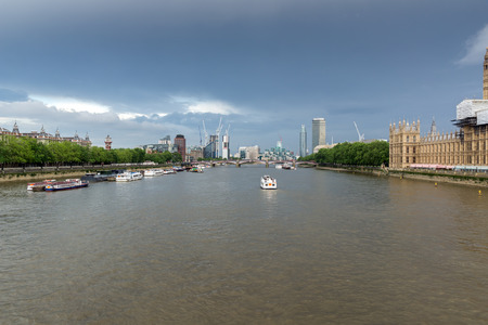 great britain: Panoramic view from Westminster bridge, London, England, Great Britain