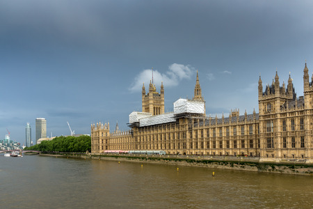 westminster bridge: Panorama from Westminster bridge, London, England, Great Britain