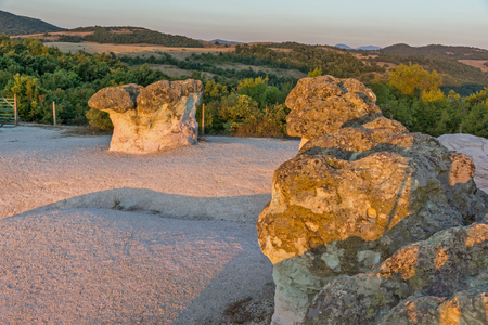 Prodigy: Sunrise view of rock formation The Stone Mushrooms, Kardzhali Region, Bulgaria