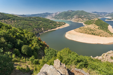 Arda River meander and Rhodopes mountain, Kardzhali Region,  Bulgaria