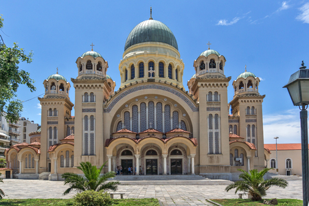 Saint Andrew Church, the largest church in Greece, Patras, Peloponnese, Western Greece Stock Photo