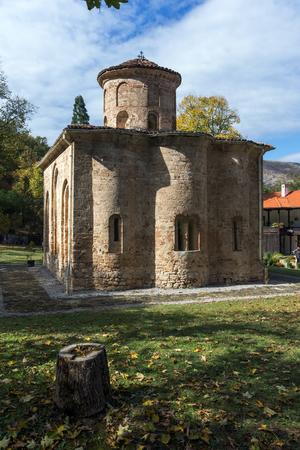 theologian: Apse view of the church in  medieval  Zemen Monastery, Pernik Region, Bulgaria Stock Photo