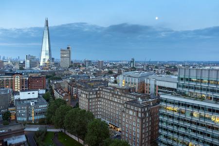 Panoramic Sunset skyline of city of London, England, Great Britain