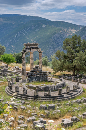 Athena Pronaia Sanctuary at Ancient Greek archaeological site of Delphi, Central Greece