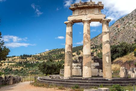 athena: Athena Pronaia Sanctuary at Ancient Greek archaeological site of Delphi, Central Greece