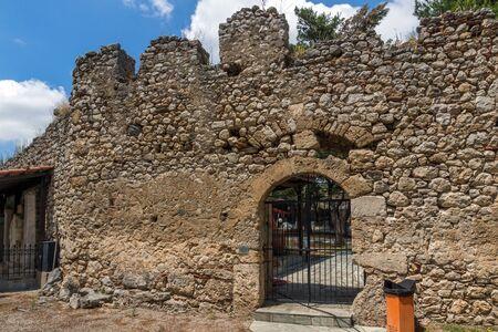 lamia: Entrance of the castle of Lamia City, Central Greece