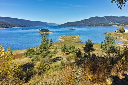Autumn view of Dospat  Reservoir, Smolyan Region, Bulgaria Stock Photo