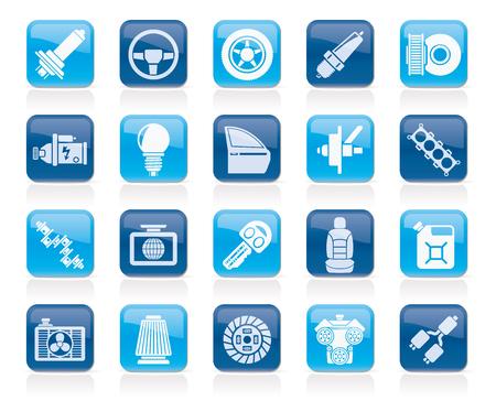 alternateur: partie de voitures et des services icônes 1 - vector icon set