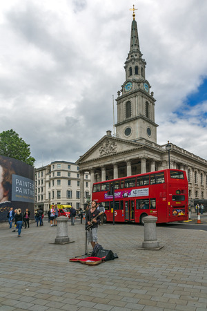 LONDON, ENGLAND - JUNE 16 2016: St Martin-in-the-Fields church,  City of London, England, Great Britain Editorial