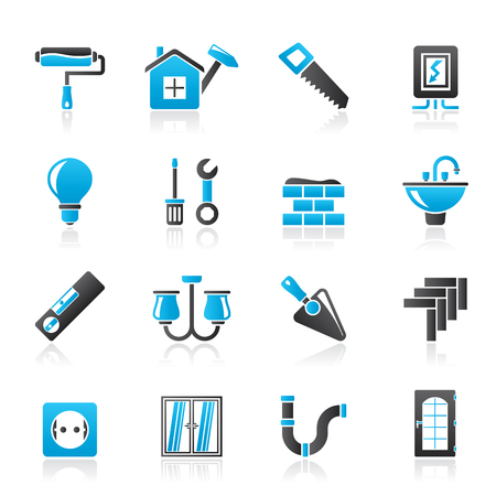 Home repair and renovation icons - vector icon set 版權商用圖片 - 68608069