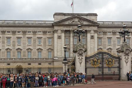 buckingham palace: LONDON, ENGLAND - JUNE 17 2016: Buckingham Palace London, England, Great Britain Editorial
