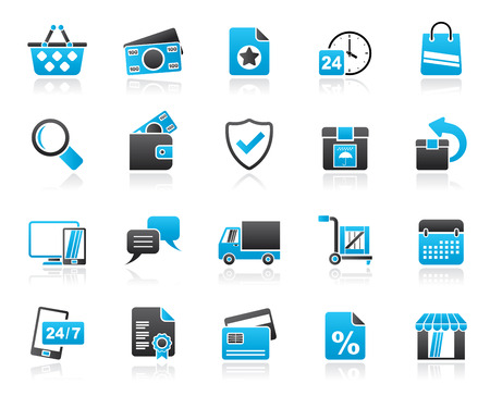 E-commerce and shop icons - vector icon set