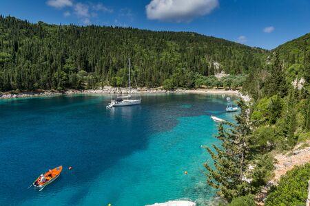 cefalonia: Green Forest around Foki Fiskardo Beach, Kefalonia, Ionian islands, Greece