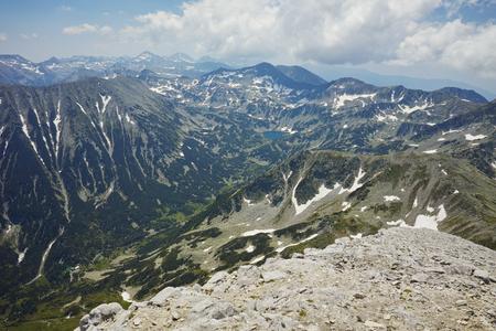 Landscape to Banderishki chukar peak from Vihren, Pirin Mountain, Bulgaria