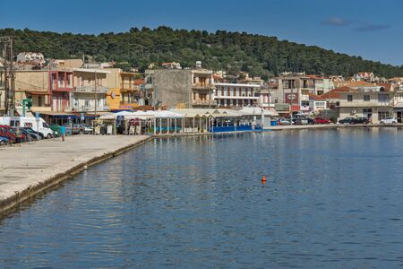 cefallonia: ARGOSTOLI, KEFALONIA, GREECE - MAY 26 2015:  Panorama of town of Argostoli, Kefalonia, Ionian islands, Greece Editorial